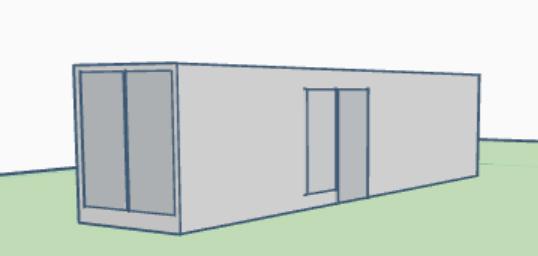 Plano contenedor Modulo 401 3D