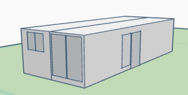 Planos contenedor Modulo 402P 3D